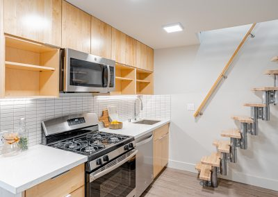Kitchen and Stairs at 510 Broadway