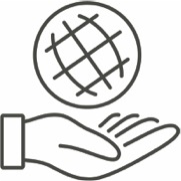 Illustration of a Hand Holding a Globe